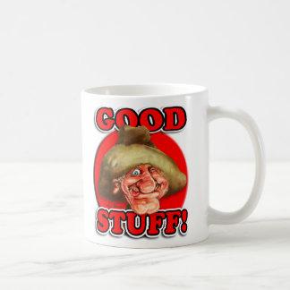 The Good Stuff Classic White Coffee Mug