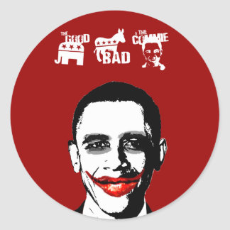 THE GOOD. THE BAD. THE COMMIE ROUND STICKERS