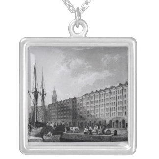 The Goree Warehouse, George's Dock, Liverpool Silver Plated Necklace