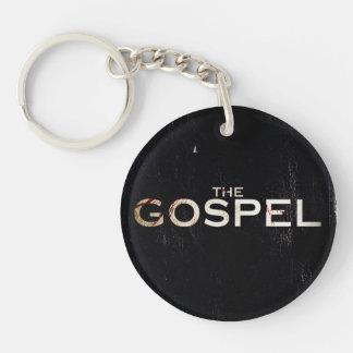The gospel Double-Sided round acrylic key ring