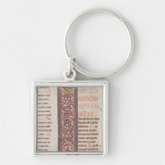 The Gospel of St. Mark Silver-Colored Square Key Ring