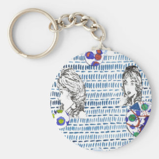 The Gossip, the scandal, oooh! Basic Round Button Key Ring