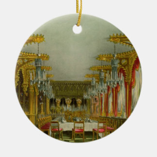 The Gothic Dining Room at Carlton House from Pyne' Christmas Ornament