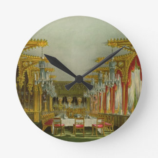 The Gothic Dining Room at Carlton House from Pyne' Wall Clocks