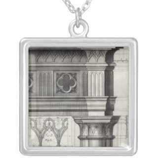 The Gothic Entablature Silver Plated Necklace