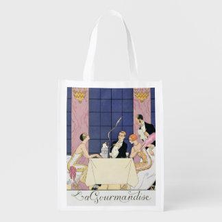The Gourmands, 1920-30 (pochoir print) Reusable Grocery Bag