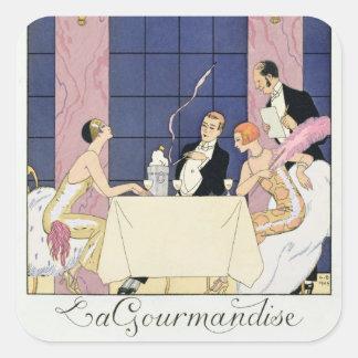 The Gourmands, 1920-30 (pochoir print) Stickers