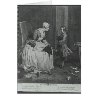 The Governess, 1739 Card