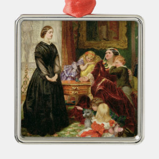 The Governess, 1860 (oil on canvas) Christmas Ornament