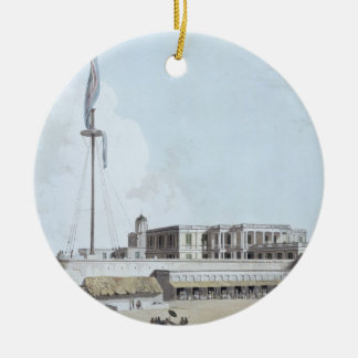The Government House, Fort St. George, plate 35 fr Christmas Ornament