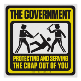The Government Protecting And Serving Poster