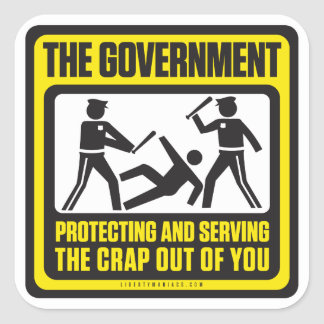 The Government Shirt Square Stickers