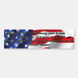 The Governments View - Ronald Reagan Bumper Sticker