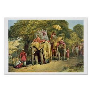 The Governor-General s State Howdah 1863 chromol Print
