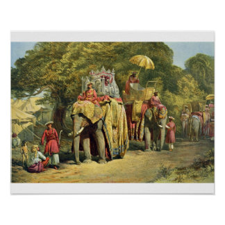 The Governor-General s State Howdah 1863 chromol Posters
