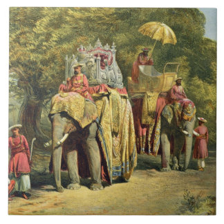The Governor-General's State Howdah, 1863 (chromol Large Square Tile