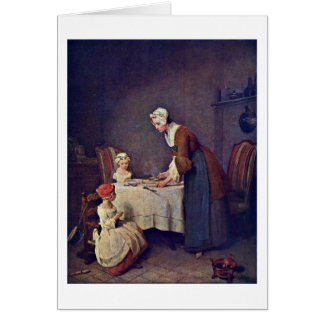 The Grace By Jean-Baptiste Simeon Chardin Greeting Card