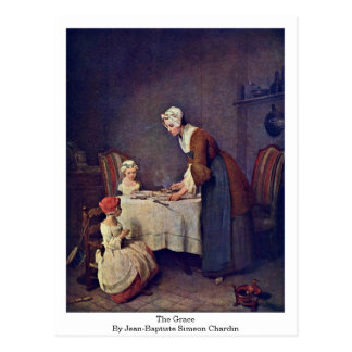 The Grace By Jean-Baptiste Simeon Chardin Postcard