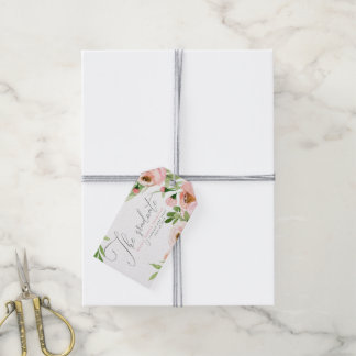 THE GRADUATE BLUSH WATERCOLOR FLORAL GIFT TAGS
