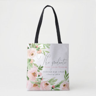 THE GRADUATE BLUSH WATERCOLOR FLORAL TOTE BAG