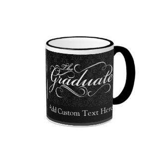 The Graduate, Elegant Black Ringer Mug