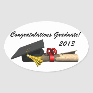 The Graduate - Oval Sticker