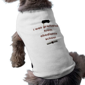 The graduate sleeveless dog shirt