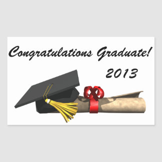 The Graduate - Rectangular Sticker