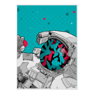 The graffiti space taveller poster
