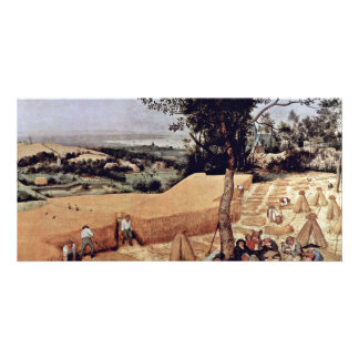 The Grain Harvest Month August By Bruegel D Customized Photo Card