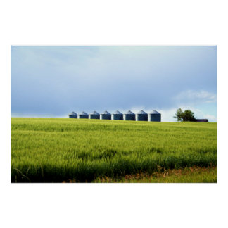 The Grain Silos Print