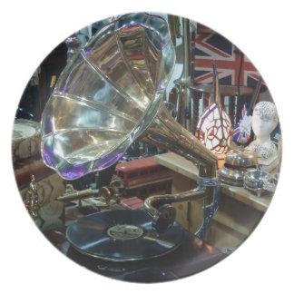 The Gramaphone Dinner Plate