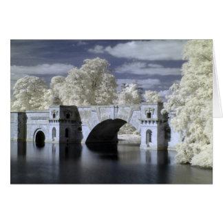 The Grand Bridge In Infrared, Blenheim Palace Card
