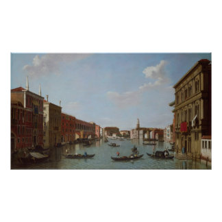 The Grand Canal and San Geremia, Venice Poster