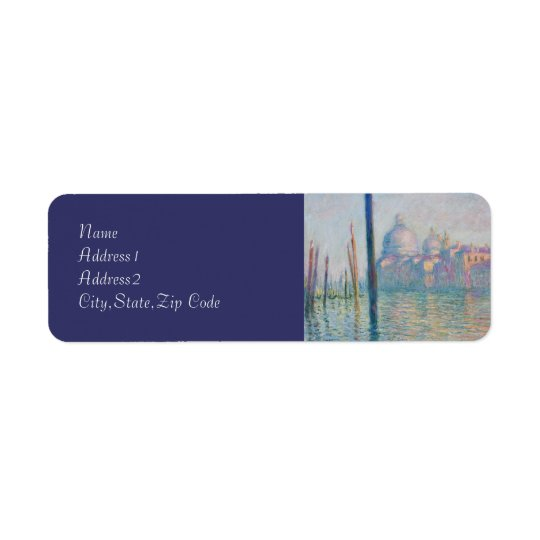 The Grand Canal by Monet Return Address Label