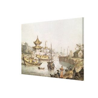 The Grand Canal, China, (w/c) Gallery Wrapped Canvas