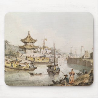 The Grand Canal, China, (w/c) Mouse Mat