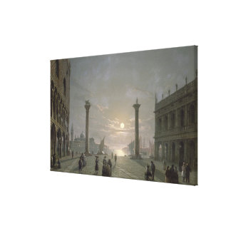 The Grand Canal From Piazza San Marco Stretched Canvas Prints