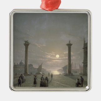 The Grand Canal From Piazza San Marco Silver-Colored Square Decoration
