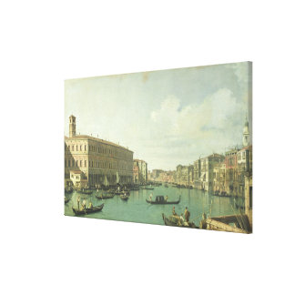 The Grand Canal from the Rialto Bridge Canvas Print