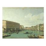 The Grand Canal from the Rialto Bridge Postcard