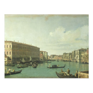 The Grand Canal from the Rialto Bridge Postcard