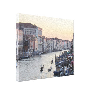 The Grand Canal in Venice at Sunset Canvas Prints