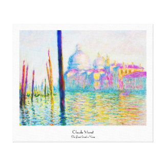 The Grand Canal in Venice Claude Monet Stretched Canvas Print