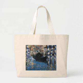 The grand canal of Venice by Edouard Manet Jumbo Tote Bag