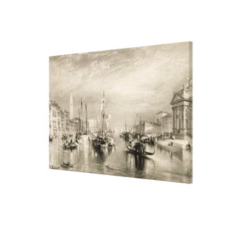 The Grand Canal, Venice, engraved by William Mille Canvas Prints
