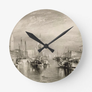 The Grand Canal, Venice, engraved by William Mille Wall Clock