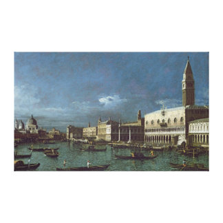 The Grand Canal with the Church of Santa Maria Canvas Print