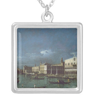 The Grand Canal with the Church of Santa Maria Silver Plated Necklace