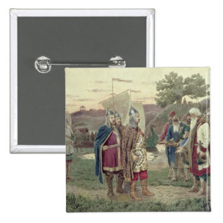 The Grand Duke Meeting with the People 15 Cm Square Badge